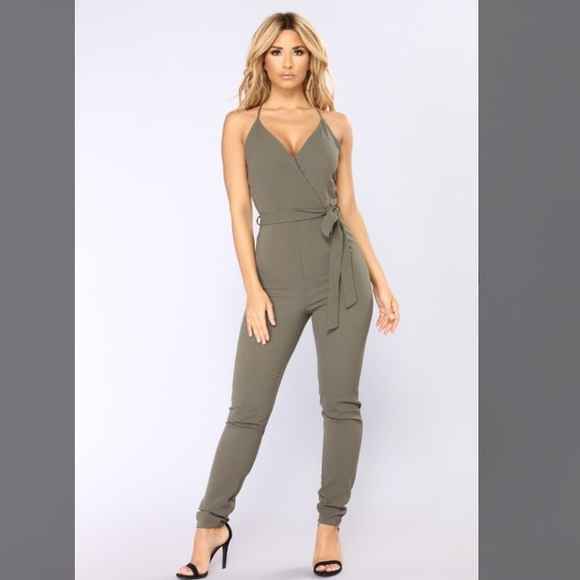 c185a73bb29 Nwot Olive Green Jumpsuit